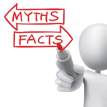 myths or facts words written by 3d man
