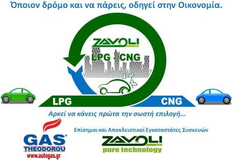 LPG CNG Υγραέριο Φυσικό Αέριο